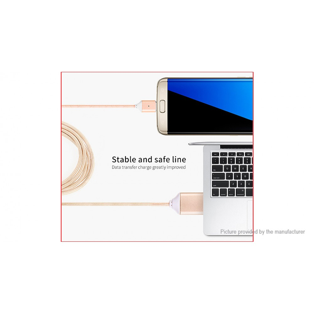 POFAN P11 Magnetic Micro-USB to USB 2.0 Data Sync/Charging Cable (100cm)